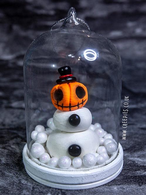 Jack-O Snowman Belljar Ornament
