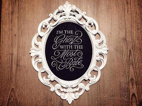 BeetleJuice Inspired Large Ornate Embroidery Frame