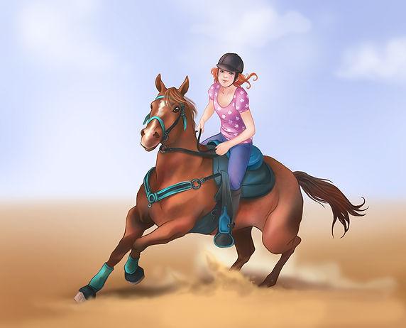 Jugendbuch-Illustration_Pferdebuch_von_M