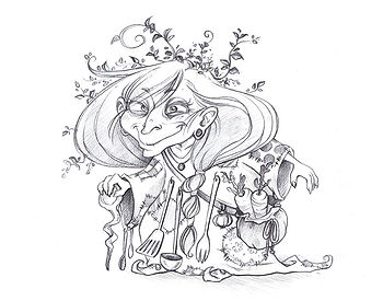 Kinderbuch-Illustration_Sketch_Hexe_von_
