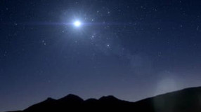 La estrella de Belén y la Cruz del Sur
