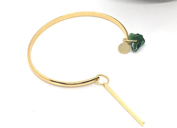 Bracelet esclave or et jade