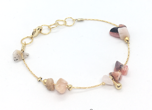Bracelet souple or et opale