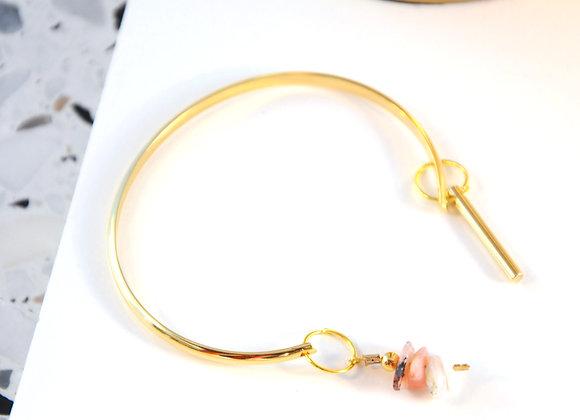 Bracelet esclave Or & Opale