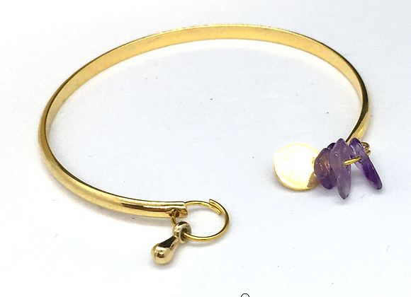 Bracelet esclave Or & Améthyste