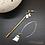 Thumbnail: Boucles d'oreilles asymétriques or & nacre