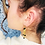 Thumbnail: Boucles d'oreille 80's or & obsidienne