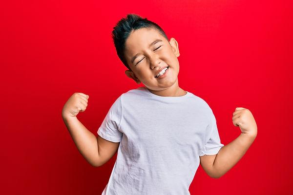 Little boy hispanic kid wearing casual w