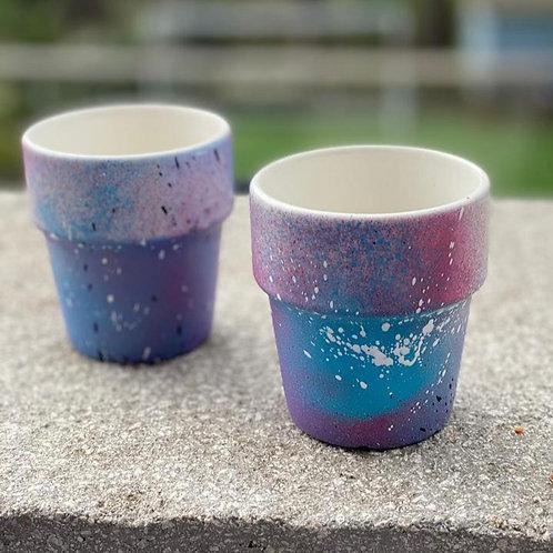 Colourful small pots - The Colour Clash