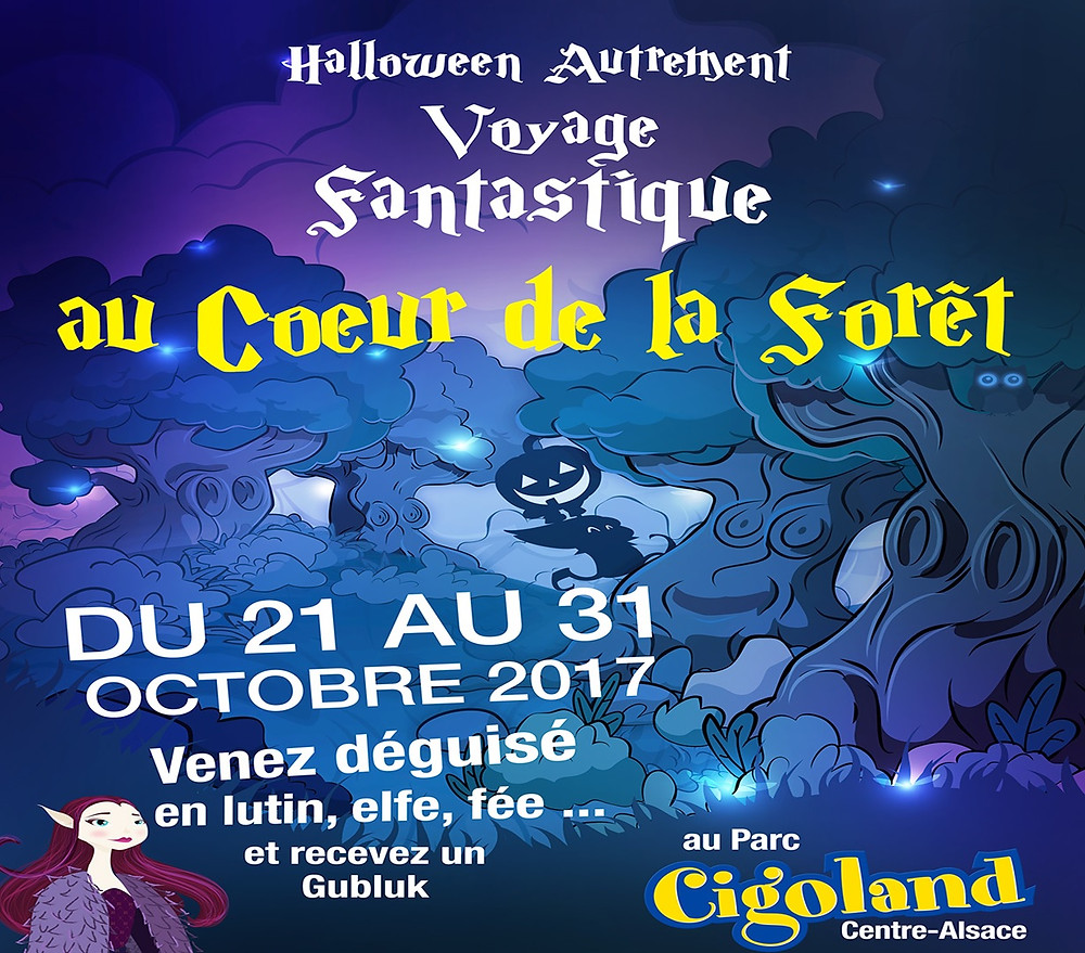 """Affiche de Cigoland : """"Voyage Fantastique au cœur de la forêt"""""""