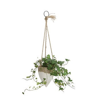 Distressed Stone Hanging Planter