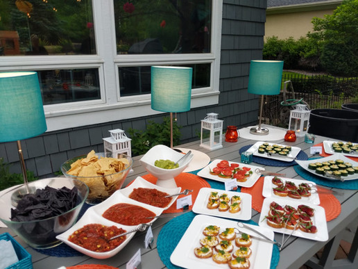 Lila Buffet Styling Backyard 40th bday p
