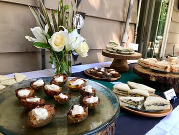Lila Buffet Styling Backyard Grad Party