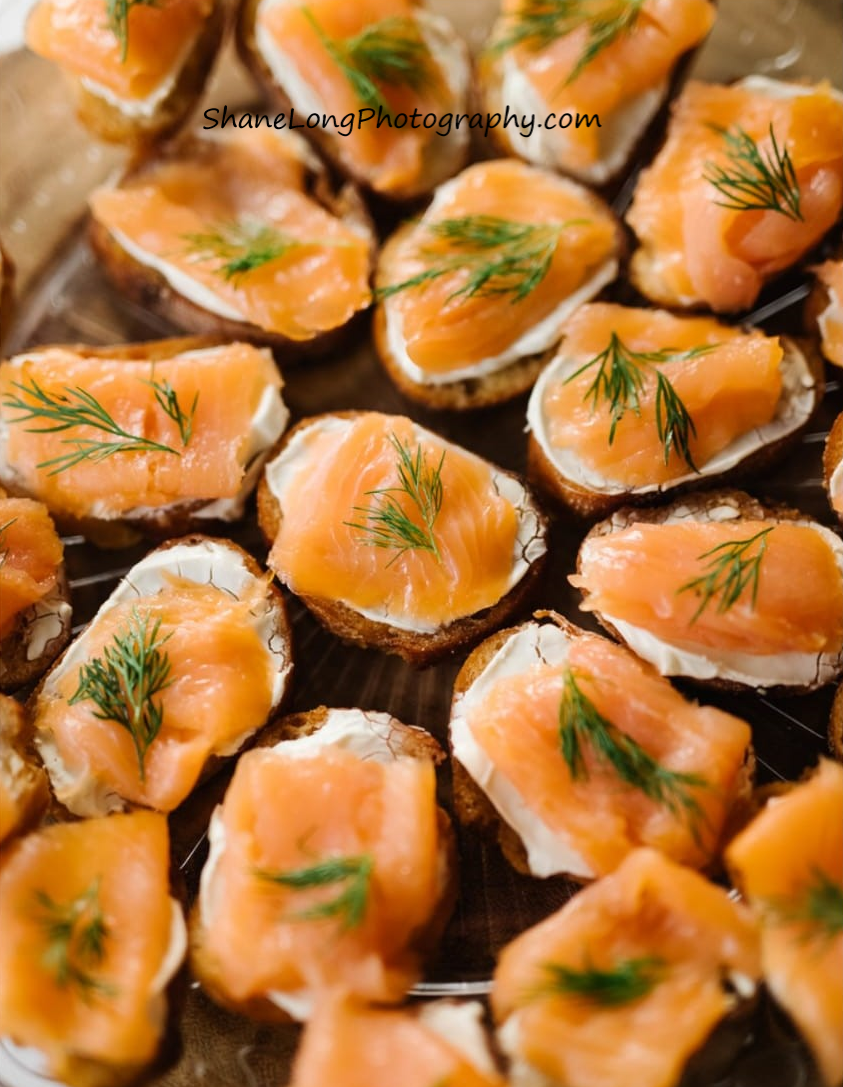 Smoked Salmon Crostinis Lila Buffet Styl