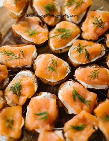 Smoked Salmon Crostinis Lila Buffet Styl