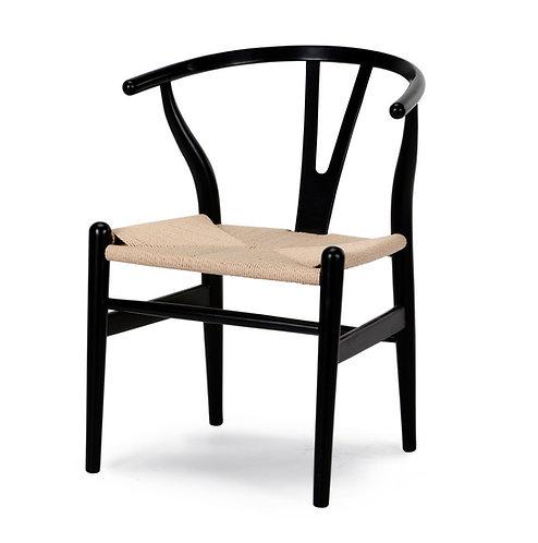 Silla Wishbone Negro