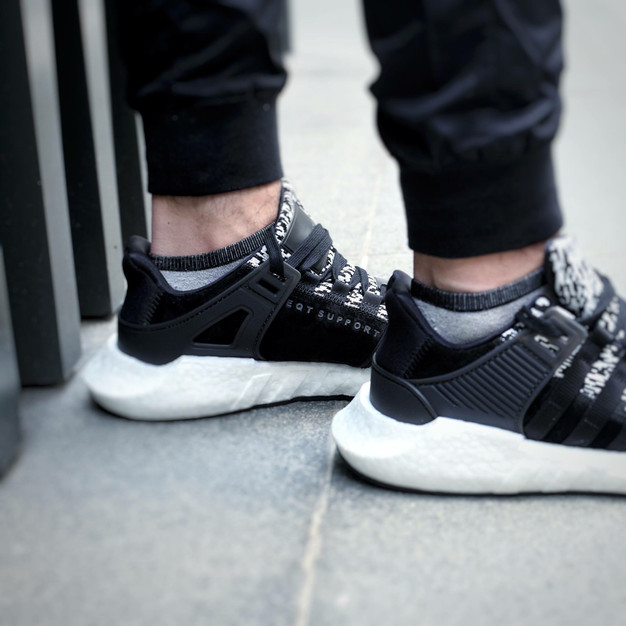 Adidas Equipment 16 W Women Round Toe Canvas Black Sneakers