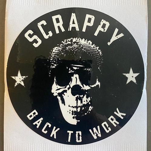 "Scrappy Sticker - 3"" x 3"""