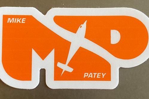 """MP Die Cut Sticker - Orange 1.5"""" x  3"""""""