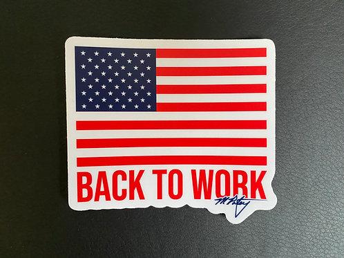 America Back to Work Sticker