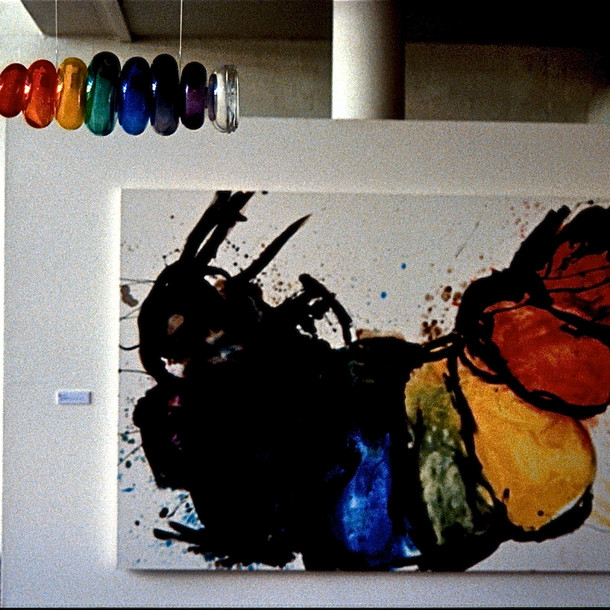 Rainbow Grub Painting, Exhibition Canberra School of Art