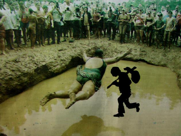 runaway in mud