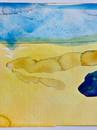 blue mushroom in semi desert
