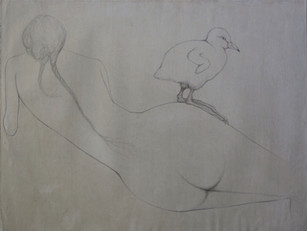 Mocking depiction of the female nude