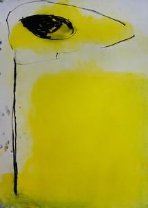 Yellow Cyclops Head on Pole