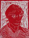 Self Portrait in red