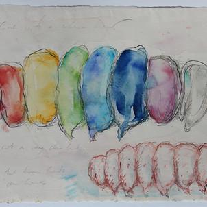 Sketch for Rainbow Grub