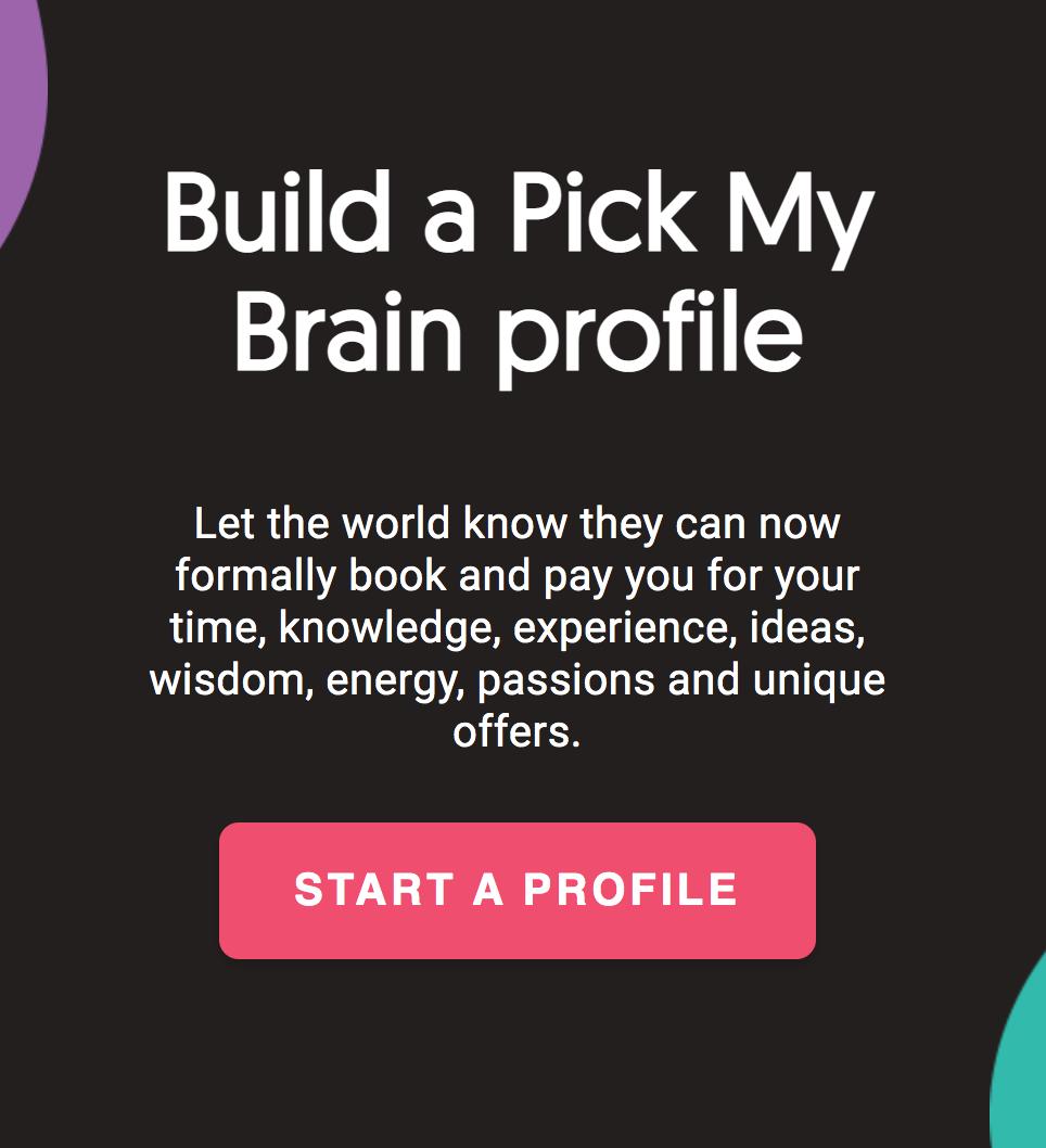 Build a Pick My Brain Profile
