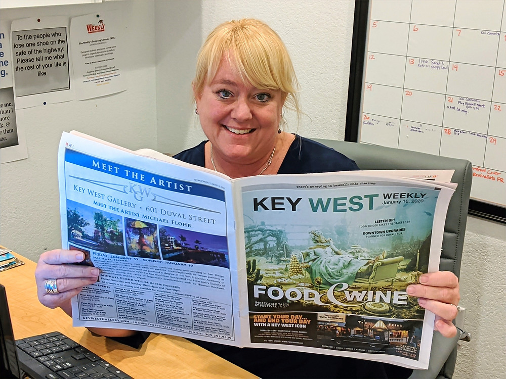 Mandy Miles, Editor of the Key West Weekly Newspaper