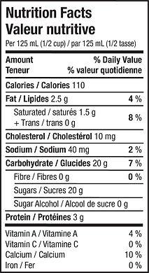 Gelato - Banana Rama - Nutritional Info.