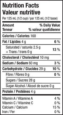 Gelato - Bubble Tea - Nutritional Info.j