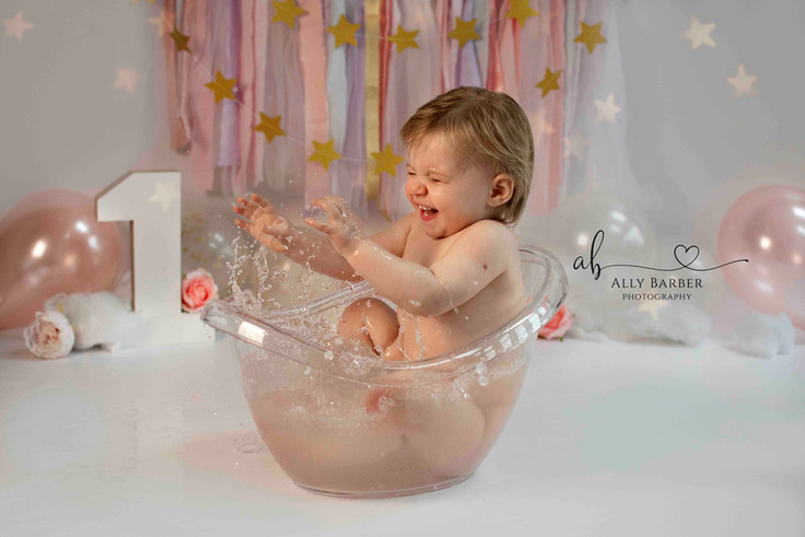 unicorn cake splash photoshoot