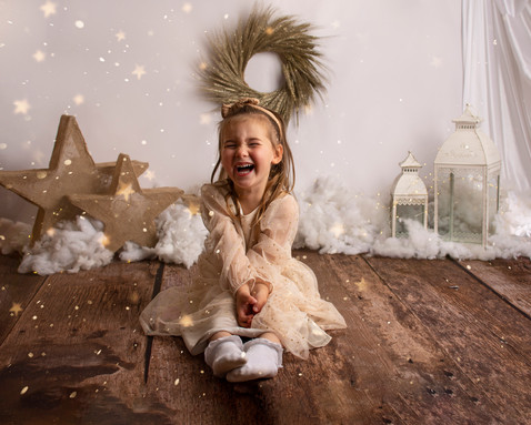 glitter christmas photoshoot