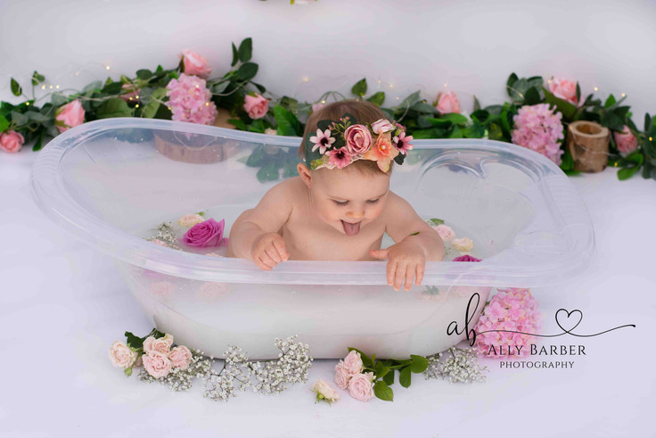 pink flower milk bath