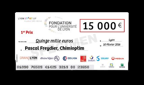 Chèque géant SANS Conception - FT : 120 x 60 cm