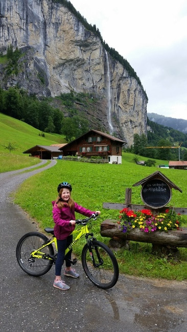 Lauterbrunnen Bike riding