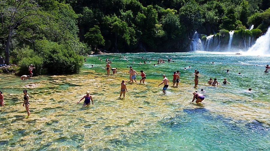 Skradinski Buk Croatia - can you swim at Krka