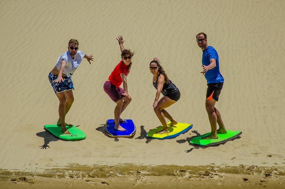 Sandboarding Te Paki Sand Dunes