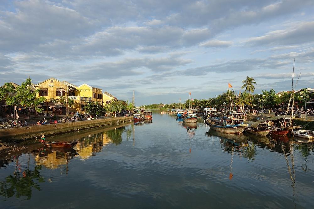Thu Bon river Hoi An fishing boats