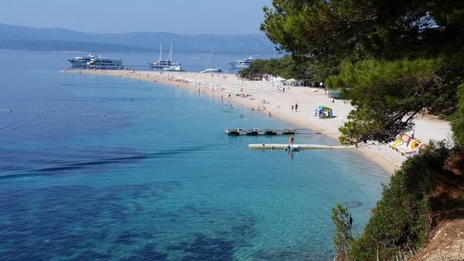 Zlatni Rat beach Bol, Croatia
