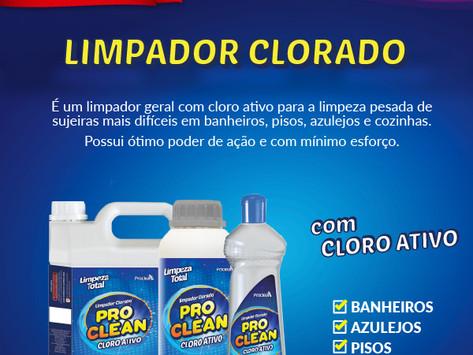 Lançamento: Limpador Clorado