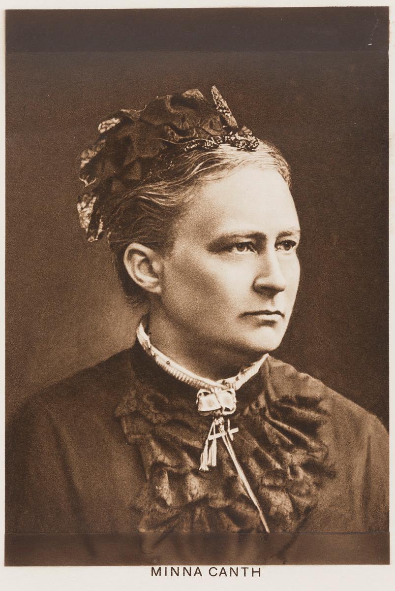 Kirjailija Minna Canth.