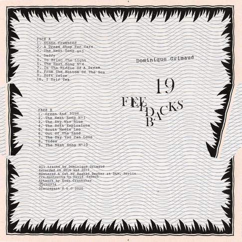 """Dominique Grimaud, """"19 Feedbacks"""""""