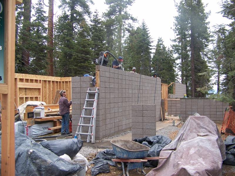 Pour CMU Block Walls