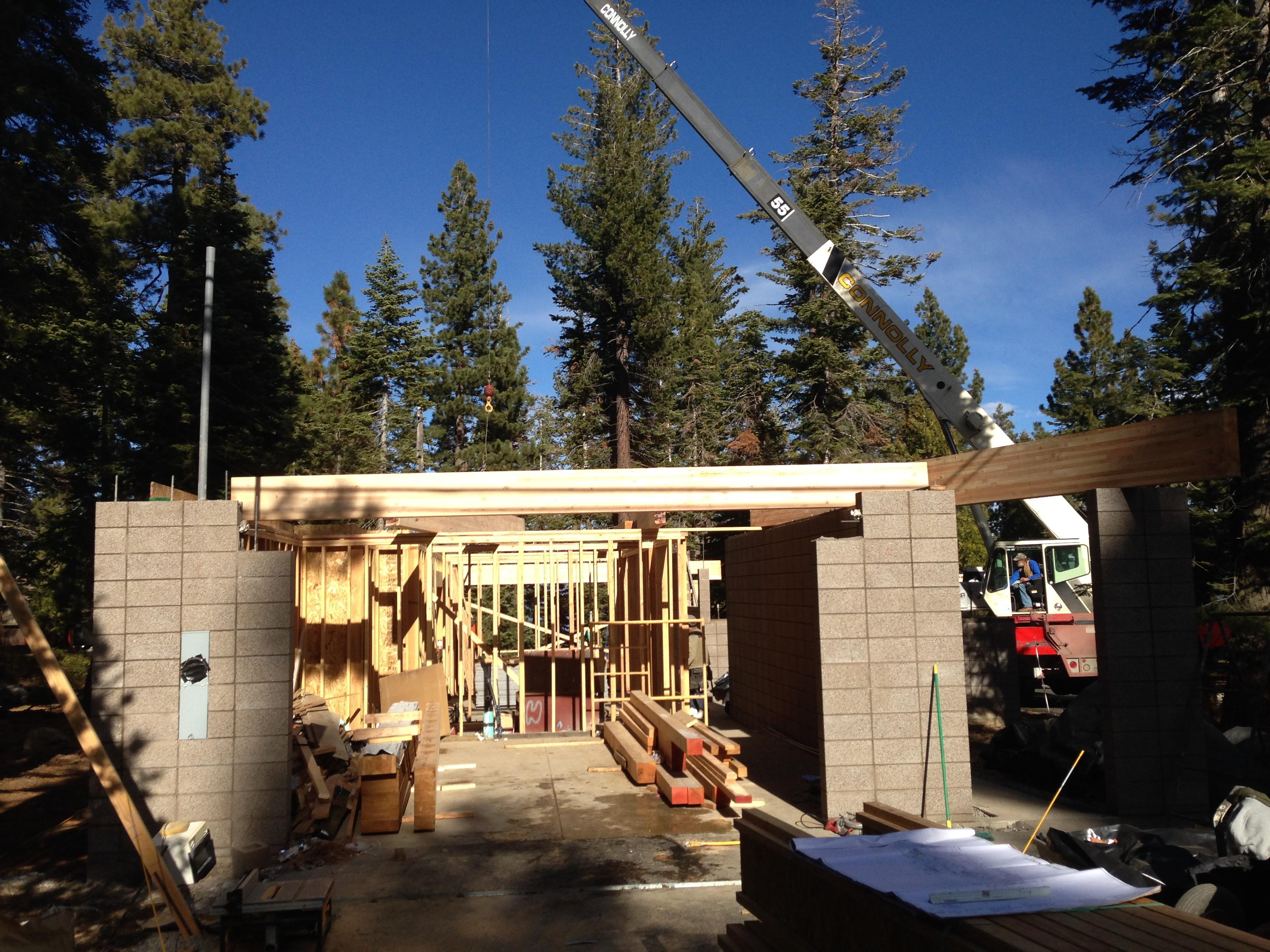 2nd Floor Crane Lift