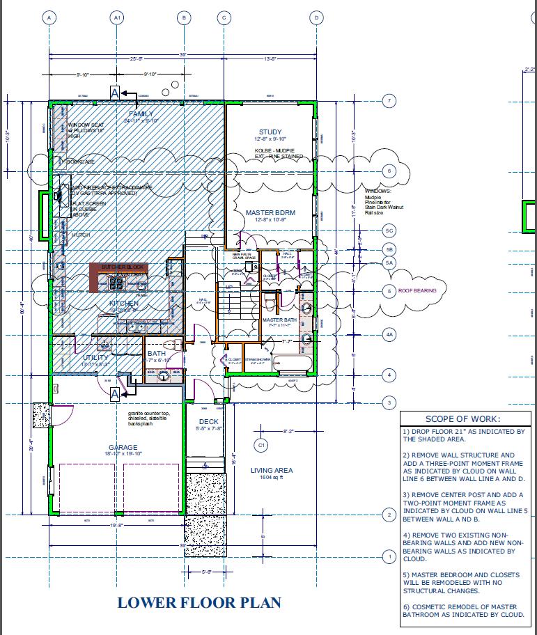 Lower Floor Plan - Drop Floor